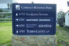 Cabrillo Business Park Wayfinding Monument Sign
