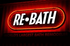 ReBath Channel Letter Illuminated Sign