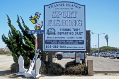 Channel Islands Sport Fishing Post & Panel Monument Sign