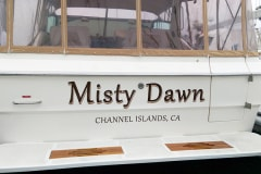 Misty Dawn Hand Painted Boat Sign