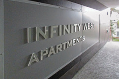 Infinity West Apartments Dimensional Letter Walkway Sign